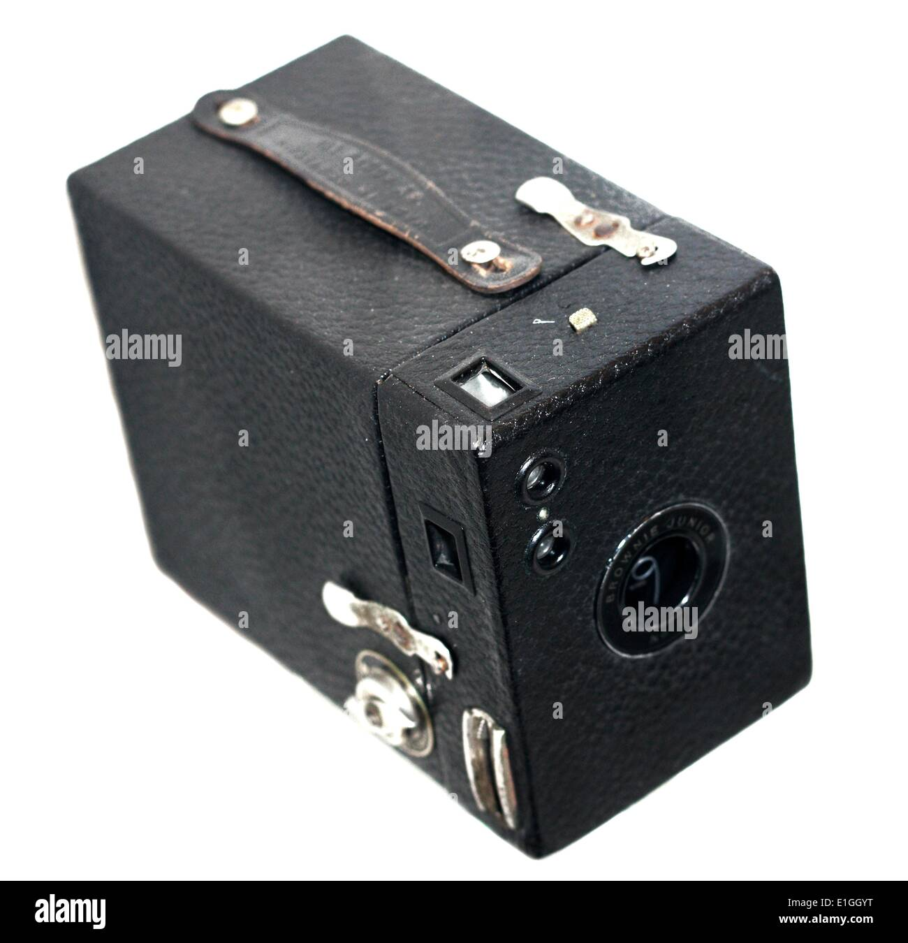 Kodak Brownie Junior No 2 Camera, roll film camera, made In England in the 1930's. - Stock Image