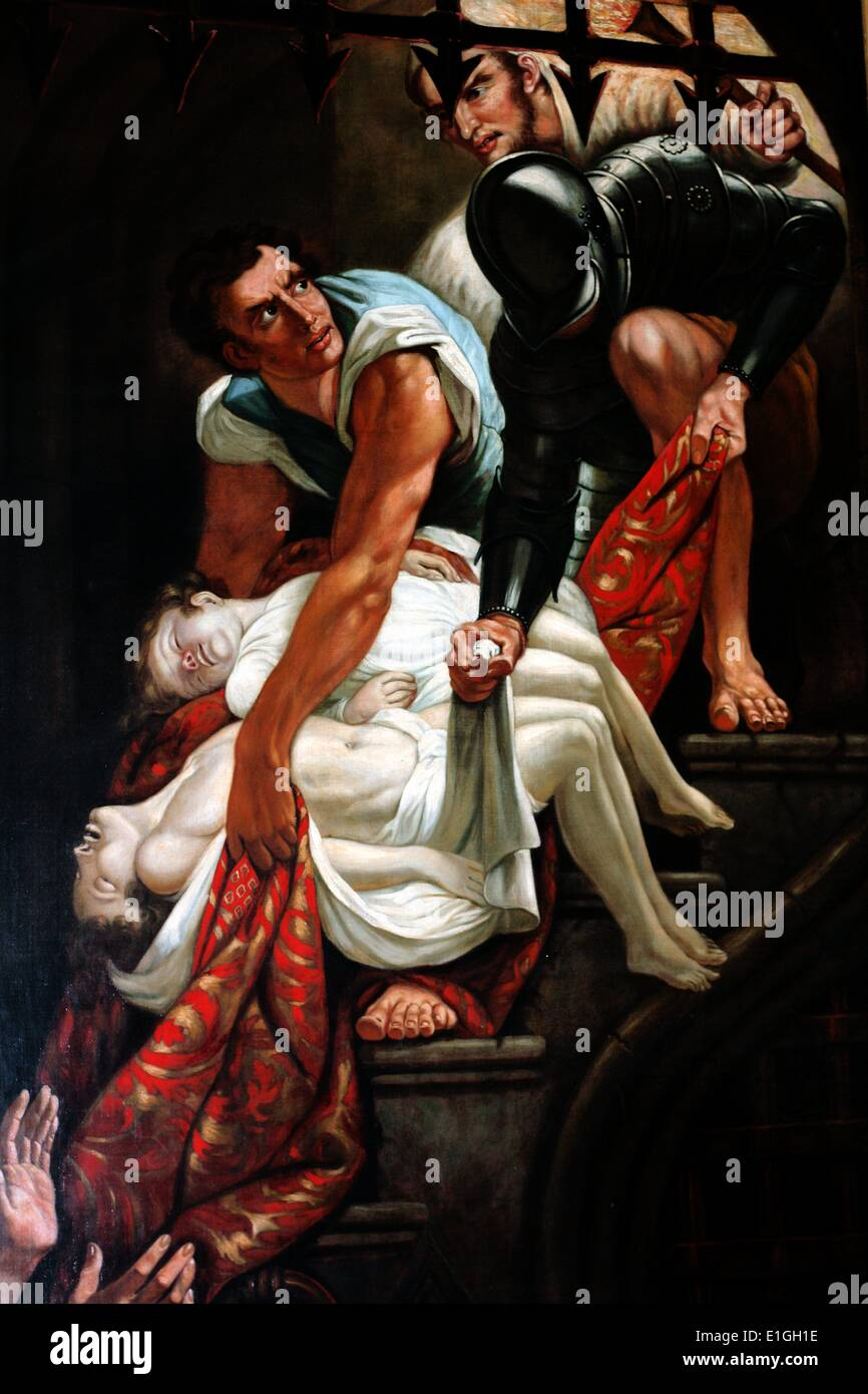 Murder of the Princes in the Tower by James Northcote (1746-1831). - Stock Image