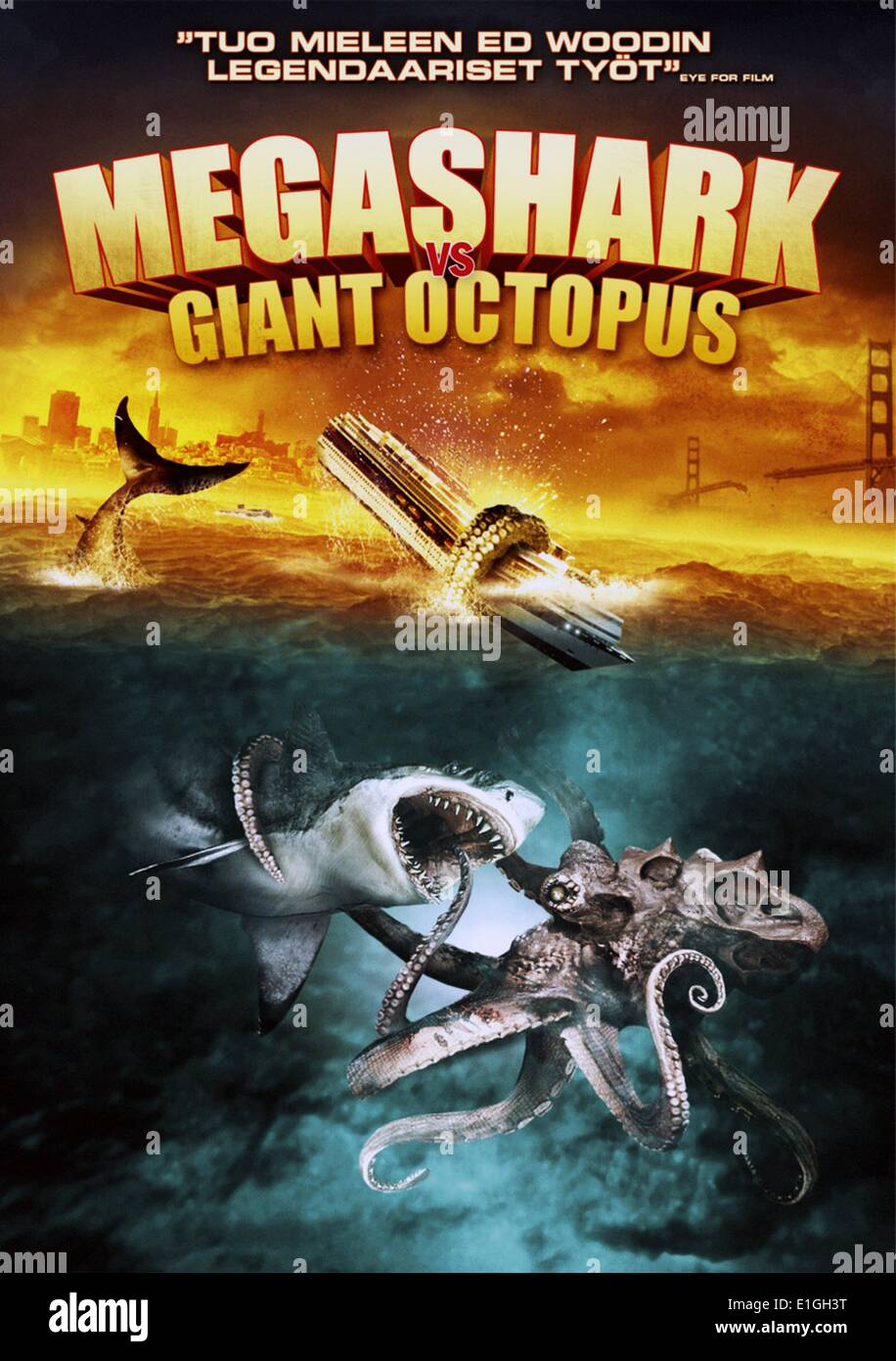 'Megashark versus Giant Octopus' a monster/disaster film released on May 19, 2009 - Stock Image