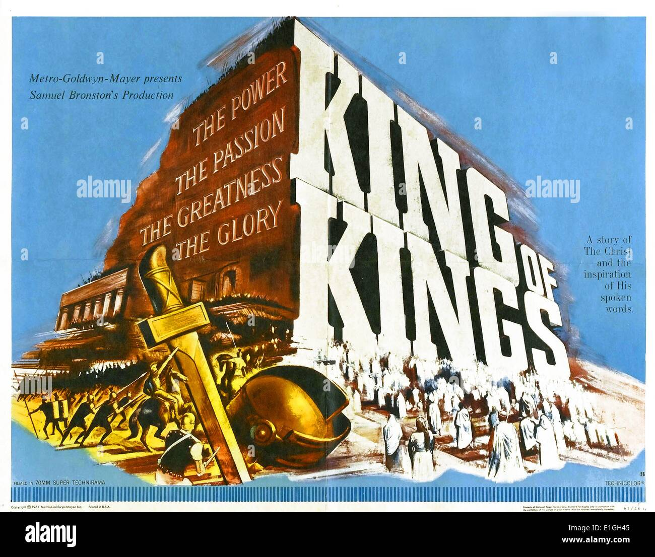 'King of Kings' a 1961 American biblical epic film. - Stock Image
