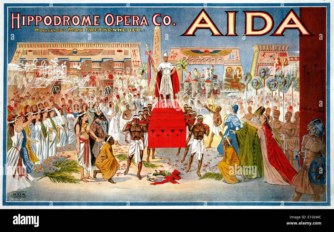 the Agora (Hippodrome) Theatre production of Aida marked the official opening of this Cleveland, Ohio theatre. first opened on - Stock Image