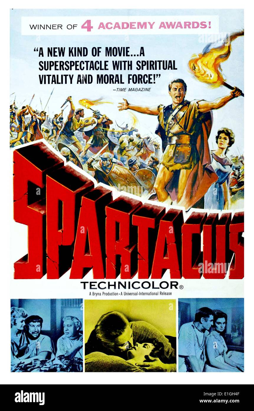 'Spartacus', best film for 1960 starring Gary Cooper. - Stock Image