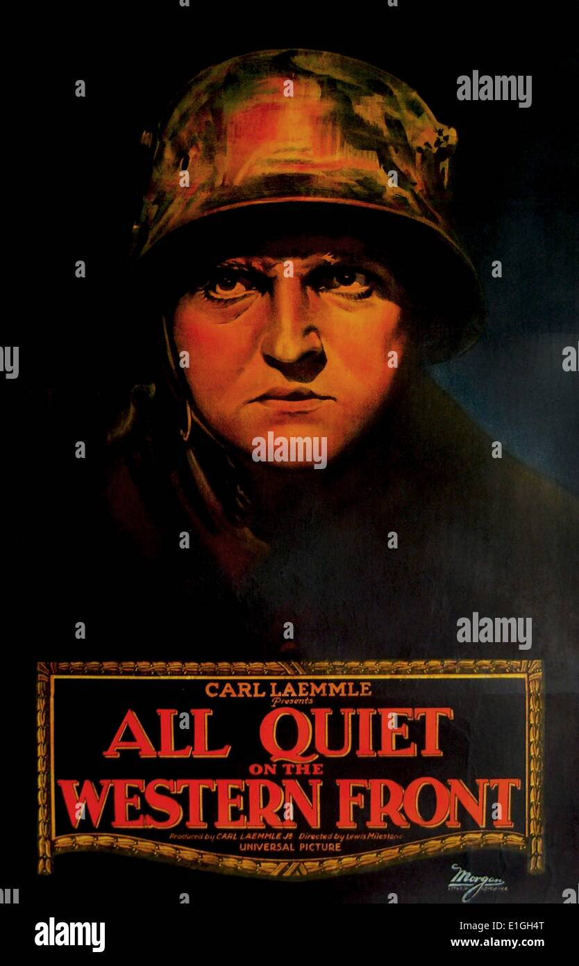 'All Quiet on the Western Front' a 1930 American war film. - Stock Image