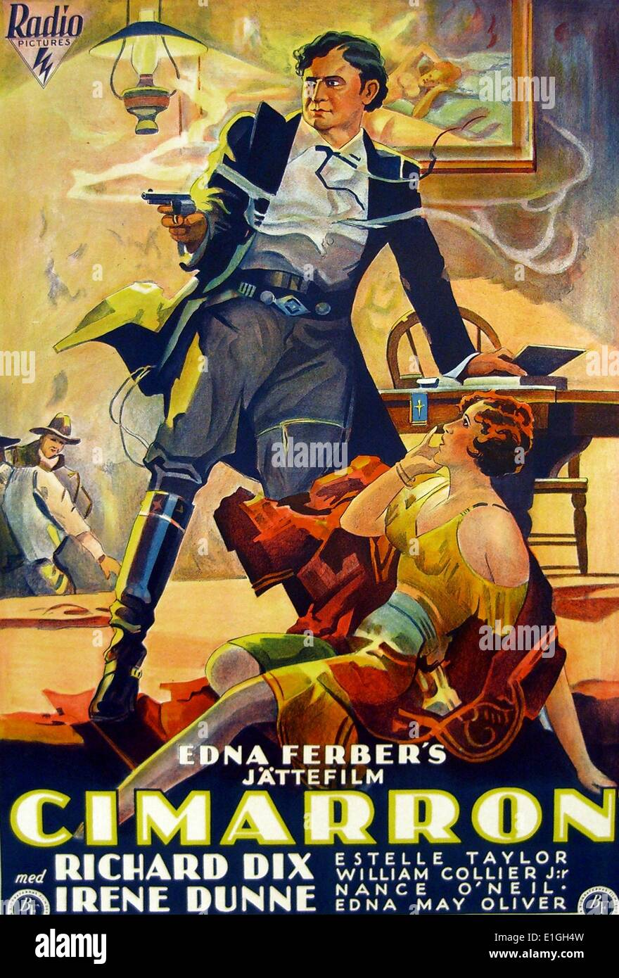 'Cimarrond', a 1960 western featuring Glenn Ford and Maria Schell. - Stock Image