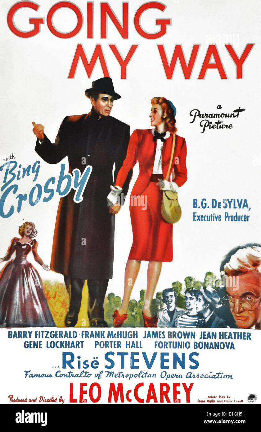'Going My Way' a 1944 American musical comedy/drama film starring Bing Crosby. - Stock Image