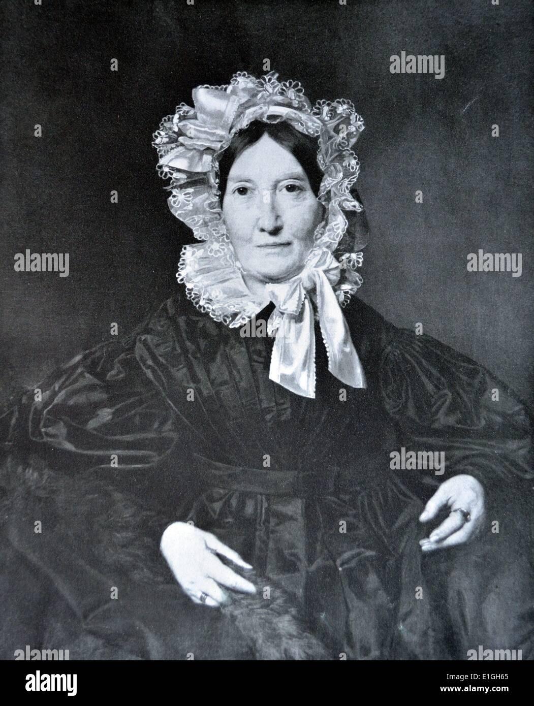 portrait of Mrs Von Lerchenau by Ferdinand Georg Waldmüller (help info) (15 January 1793 in Vienna – 23 August 1865 in - Stock Image