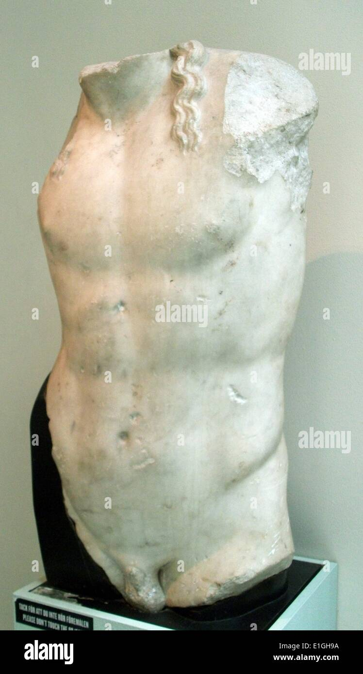 Torso of Dionysos.  Roman copy from an original, - Stock Image