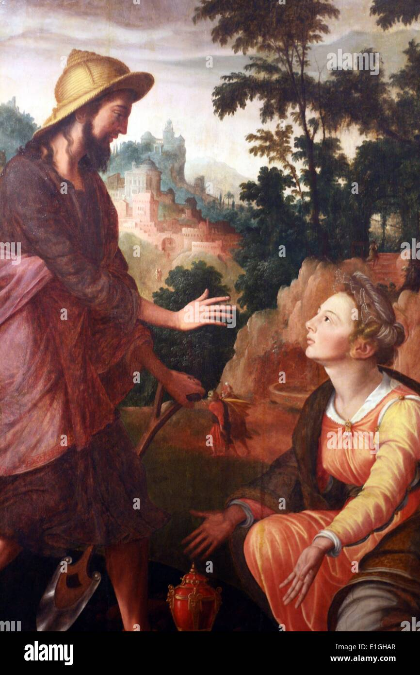 Christ appearing to the Magdalen by Jan van Scorel (1495-1562) - Stock Image