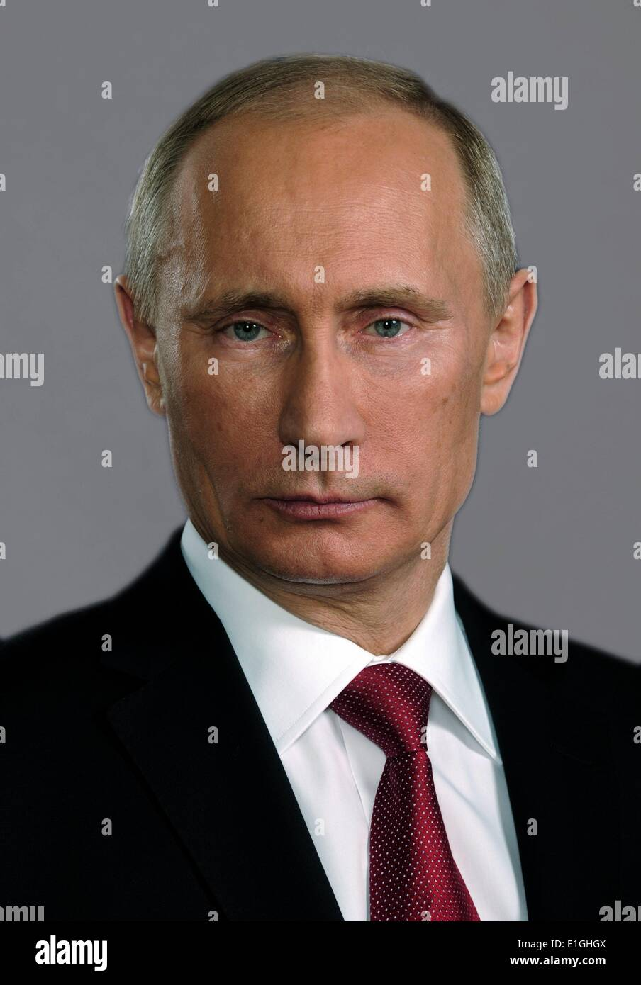 Vladimir Putin (born 1951). President of Russia since 7 May 2012. He previously served as President from 2000 to 2008, and as - Stock Image