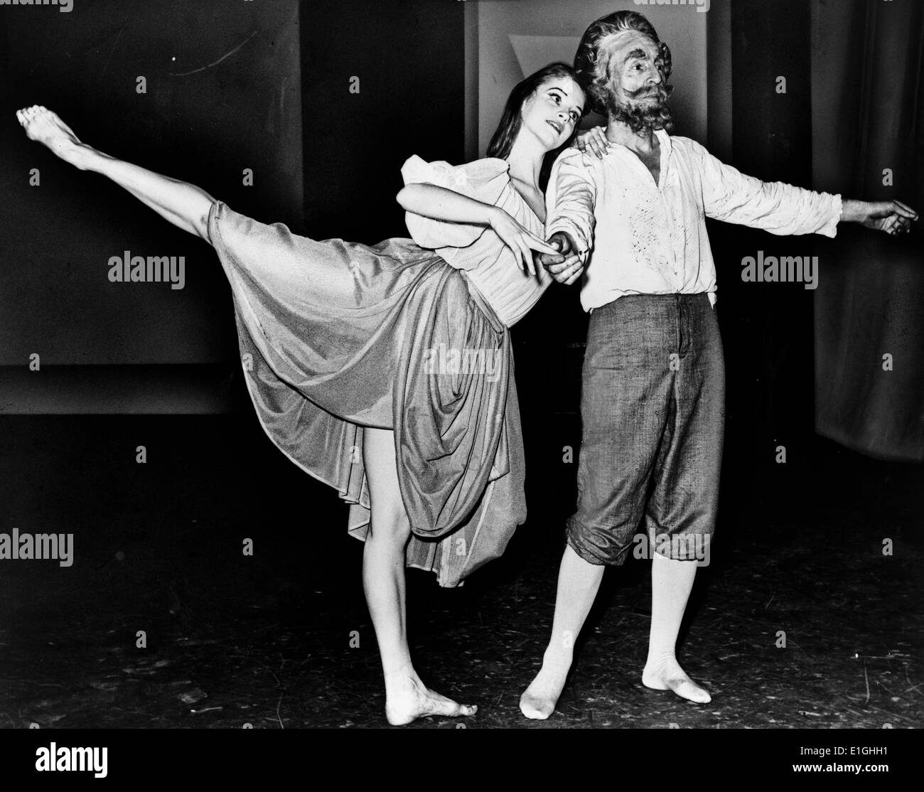 Suzanne Farrell and George Balanchine dancing in a segment of 'Don Quixote' at New York State Theater 1965 - Stock Image