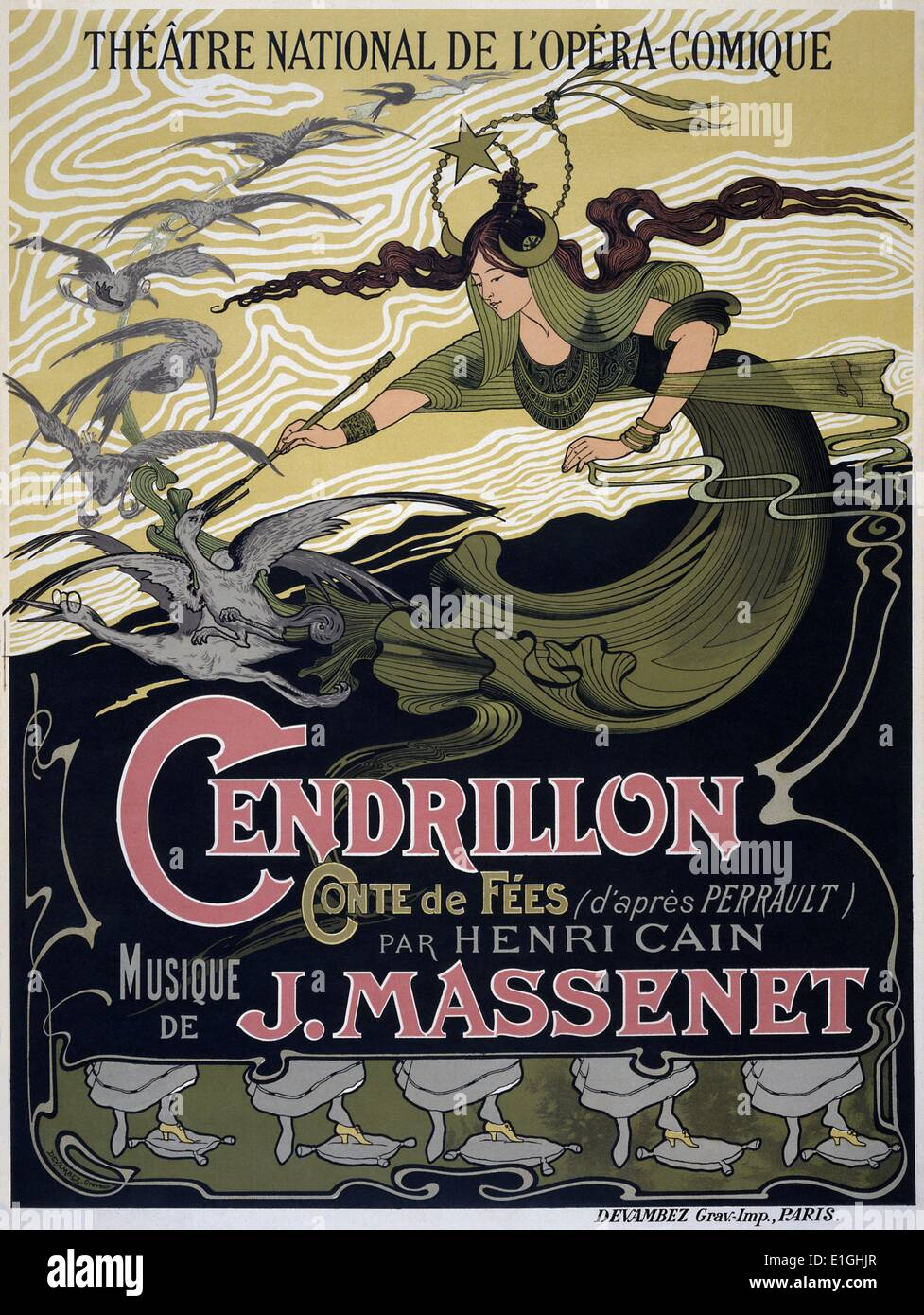 Cendrillon (Cinderella) is an opera—described as a 'fairy tale'—in four acts by Jules Massenet to a French libretto by Henri - Stock Image