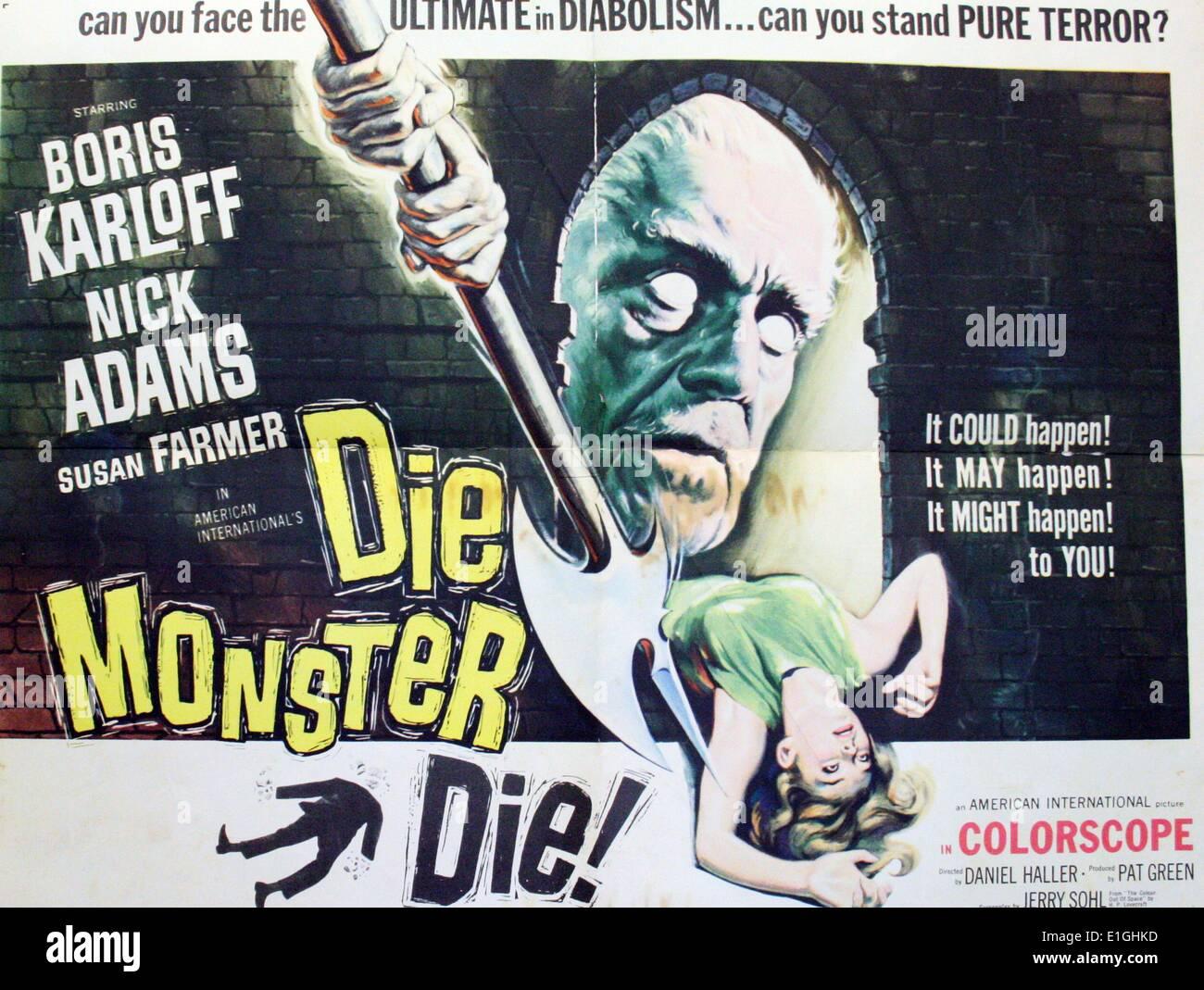 'Die Monster Die!' a 1965 horror film starring Boris Karloff. - Stock Image