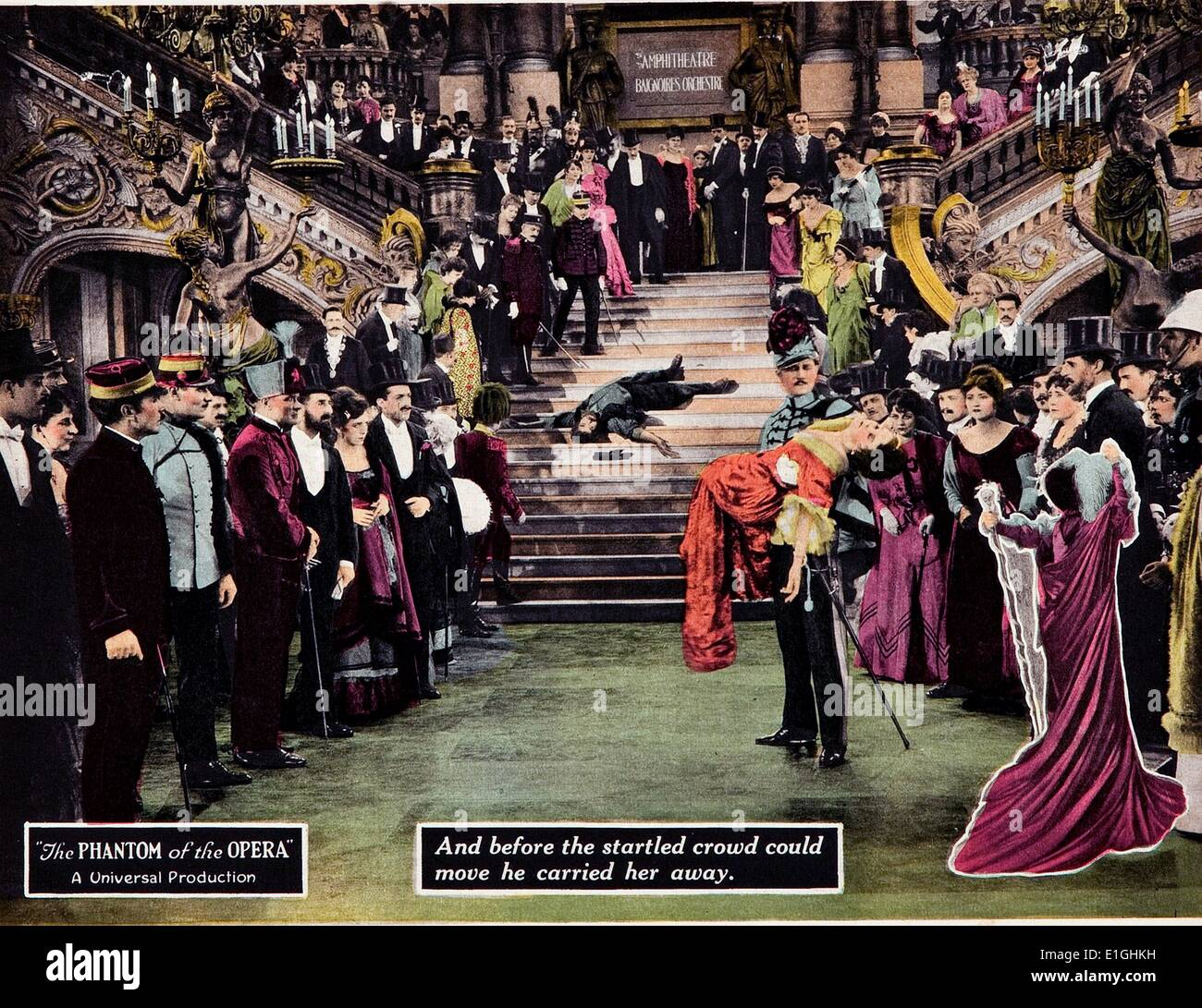 'The Phantom of the Opera' a 1925 American silent horror film adaptation of Gaston Leroux's 1910 novel of the same name. It - Stock Image