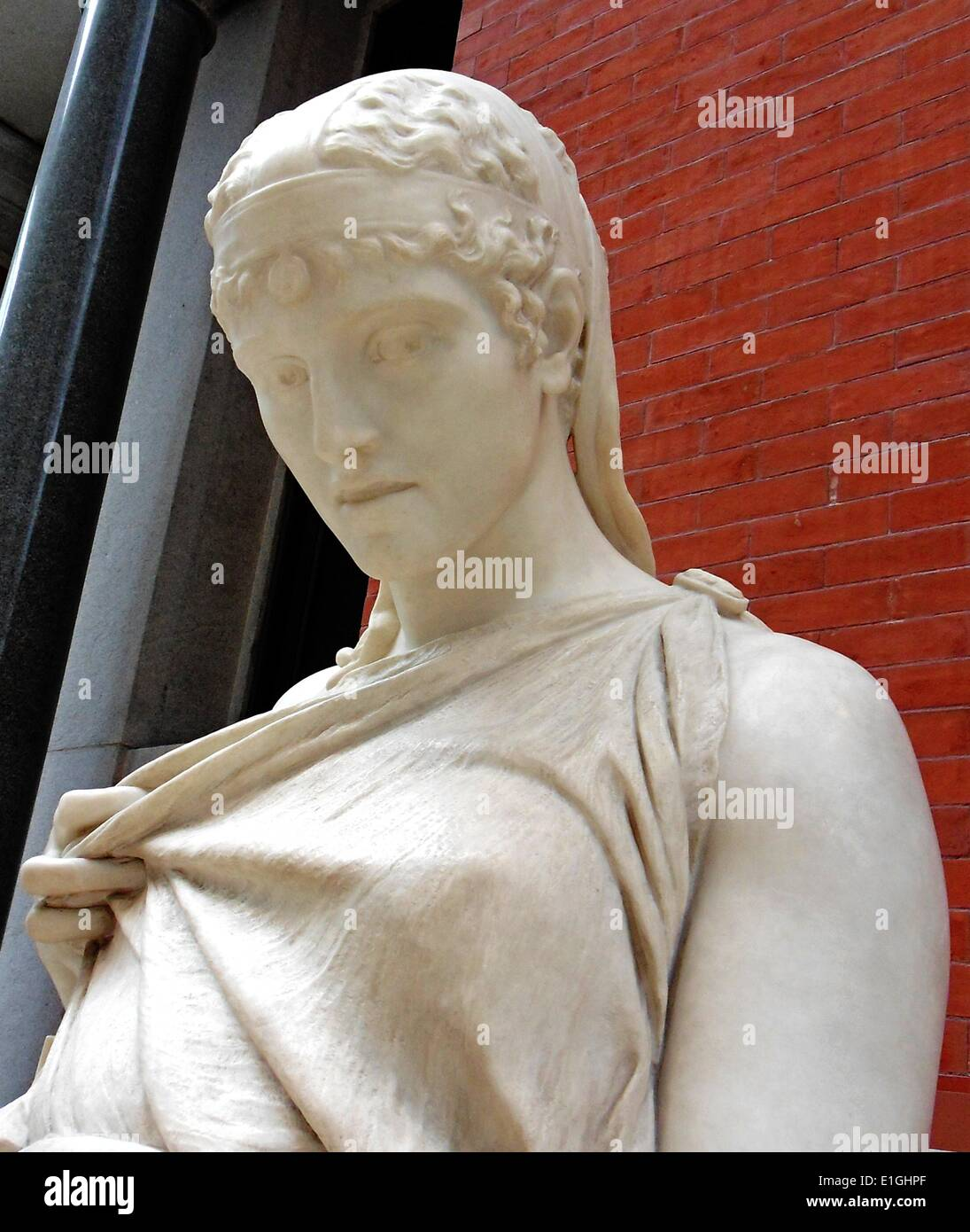 Sappho, marble.  Comte Prosper D'Epinay (1836-1914) Mauritian-born artist, active in France and Italy; Rome, about 1895. - Stock Image