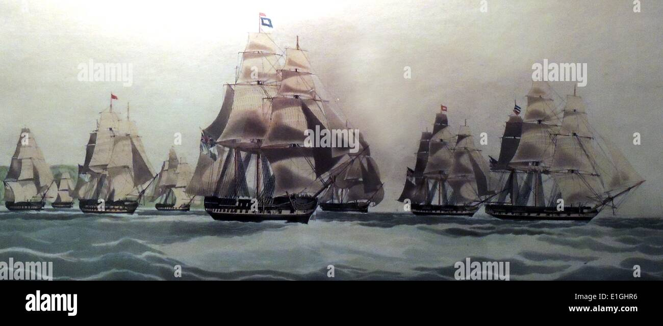 The Wellington.  Captain James Liddelle off Dover, August 1839. - Stock Image