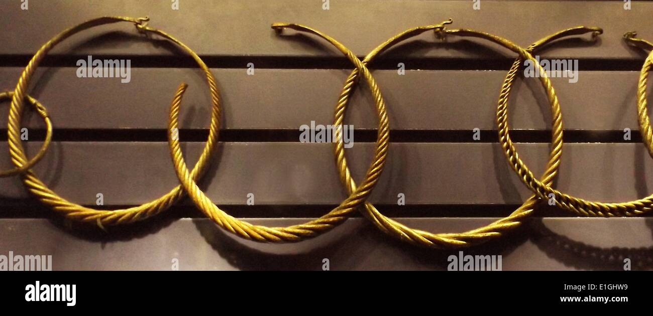 Iron Age neck and arm rings, Norway - Stock Image