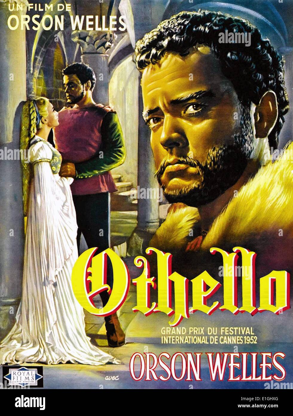 Othello is a 1952 drama film based on the Shakespearean play, made by Mercury Productions Inc. and Les Films Marceau and - Stock Image