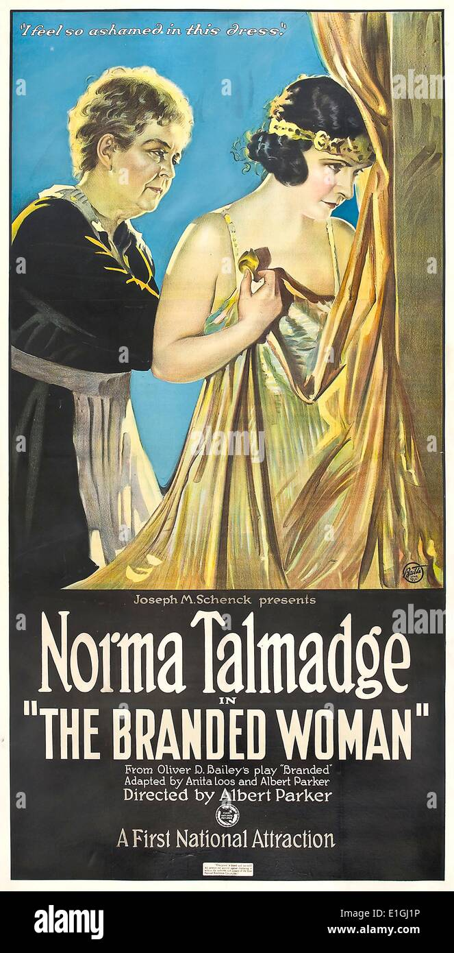 The Branded Woman, starring Norma Talmadge, a 1920 American silent film drama. - Stock Image