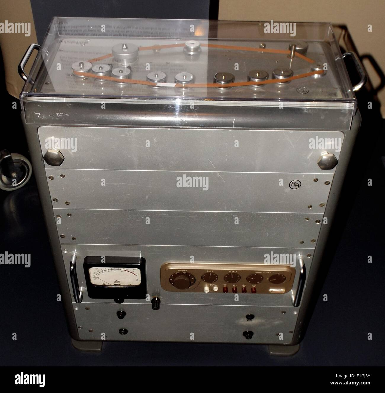 The Amhoff Echo early tape recording machine - Stock Image