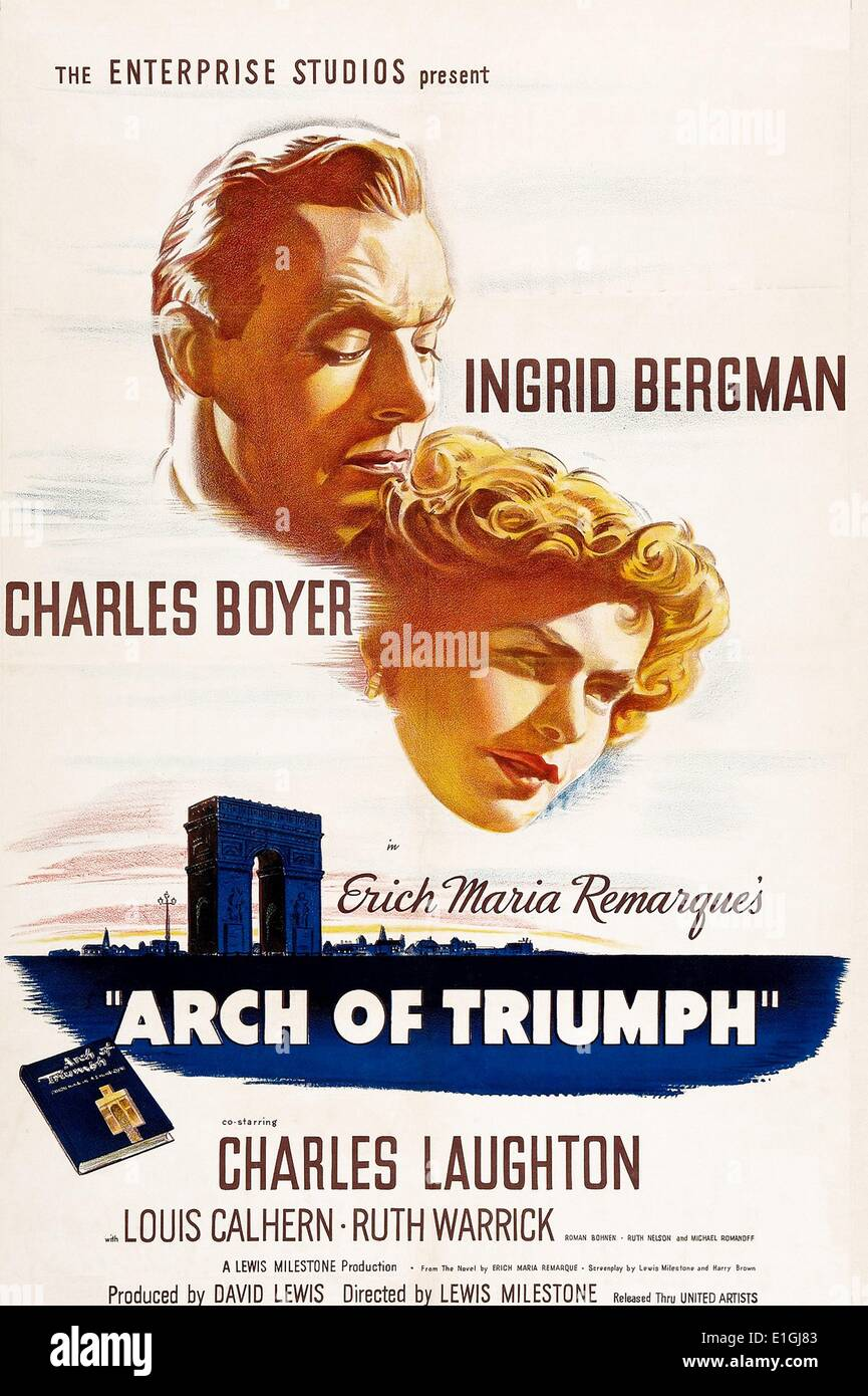 'Arch of Triumph' a 1960 American historical epic film about the 1836 Battle of the Alamo directed by and starring John Wayne - Stock Image