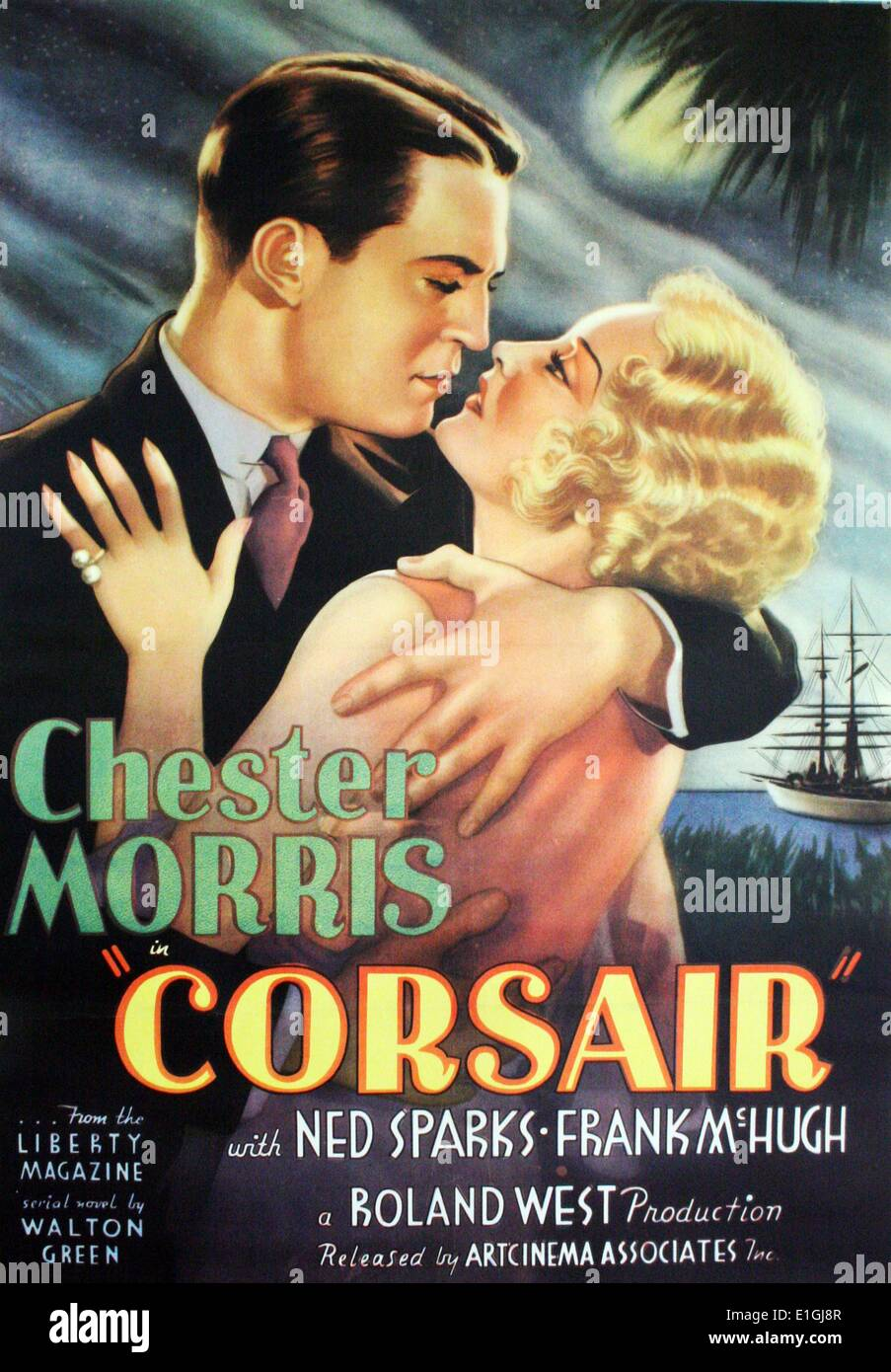 Corsair is a 1931 American gangster film directed by Roland West. The film is based on the novel Corsair by Walton Green and - Stock Image