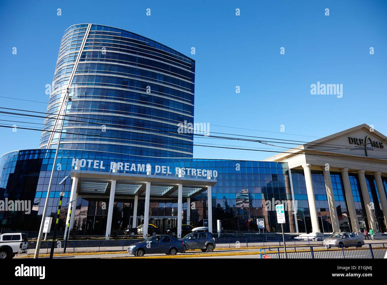 hotel dreams del estrecho and casino Punta Arenas Chile - Stock Image