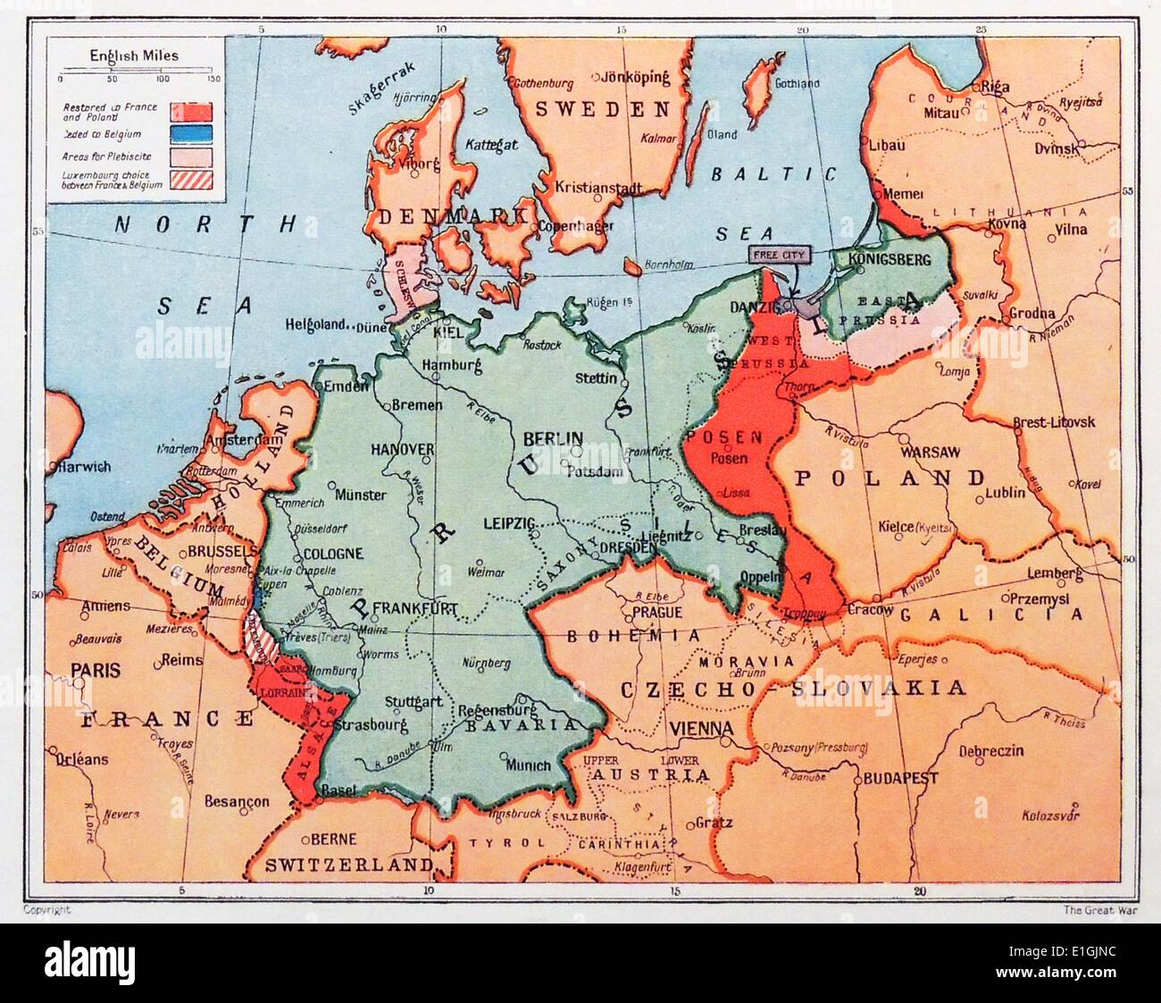 Germany Map Stock Photos Germany Map Stock Images Alamy