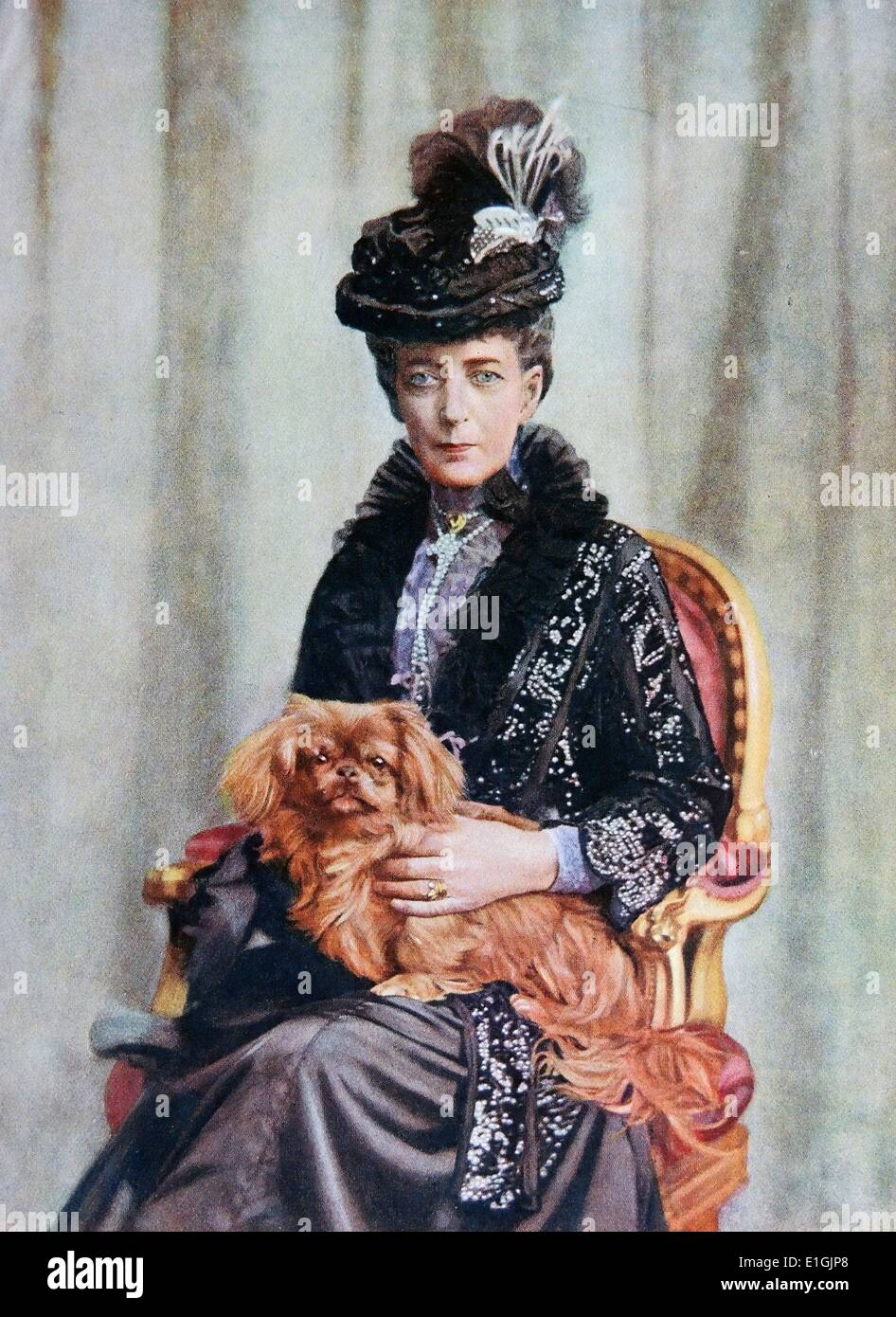Britain's Queen Alexandra  1844 – 20 November 1925. She was the daughter of King Christian IX of Denmark - Stock Image