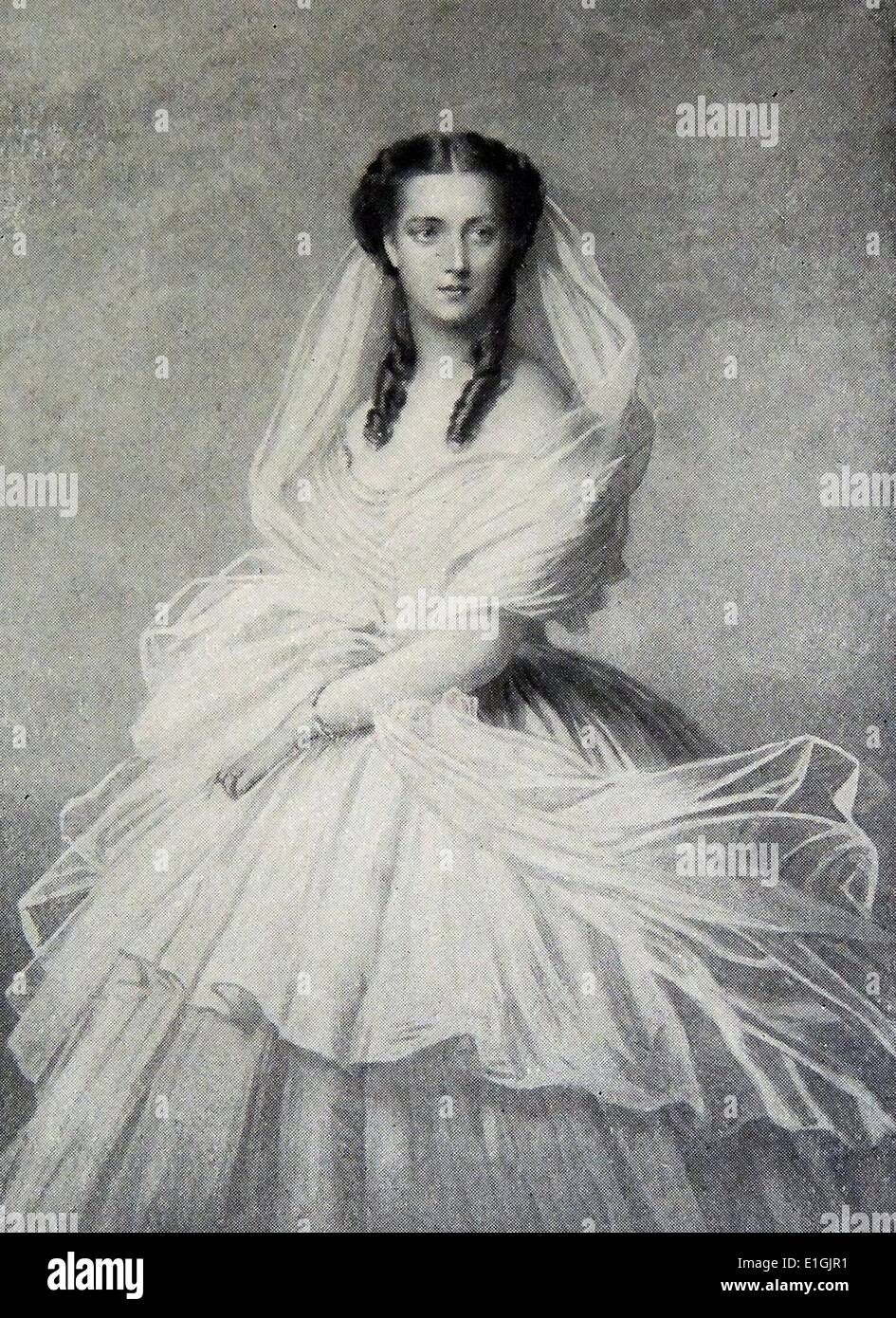 Elisabeth of Austria (24 December 1837 – 10 September 1898) was the wife of Emperor Franz Joseph I, and thus Empress of Austria - Stock Image