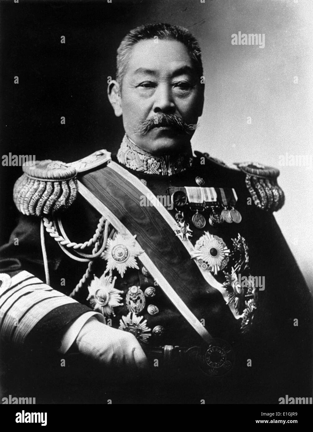 Marshal Admiral Count Itō Sukeyuki; also known as Itō Yūkō?) (20 May 1843 – 16 January 1914) was a career officer and admiral - Stock Image