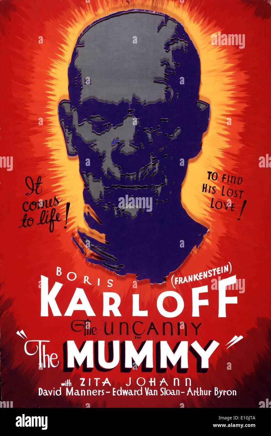 The Mummy a 1932 horror film from Universal Studios starring Boris Karloff - Stock Image