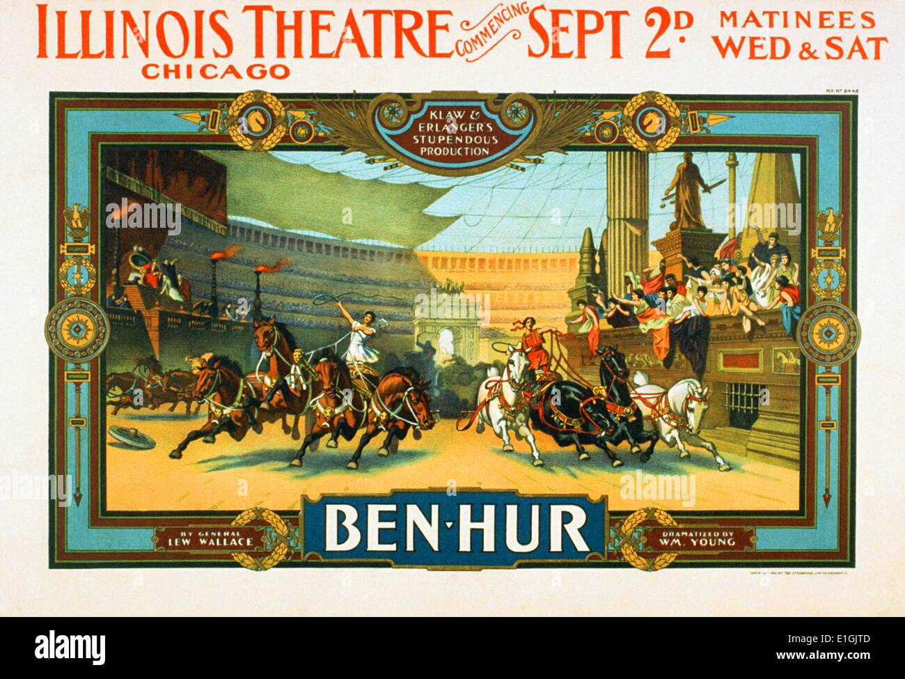 'Ben Hur', the 1959 epic of all biblical epics starring Charlton Heston and Jack Hawkins. - Stock Image