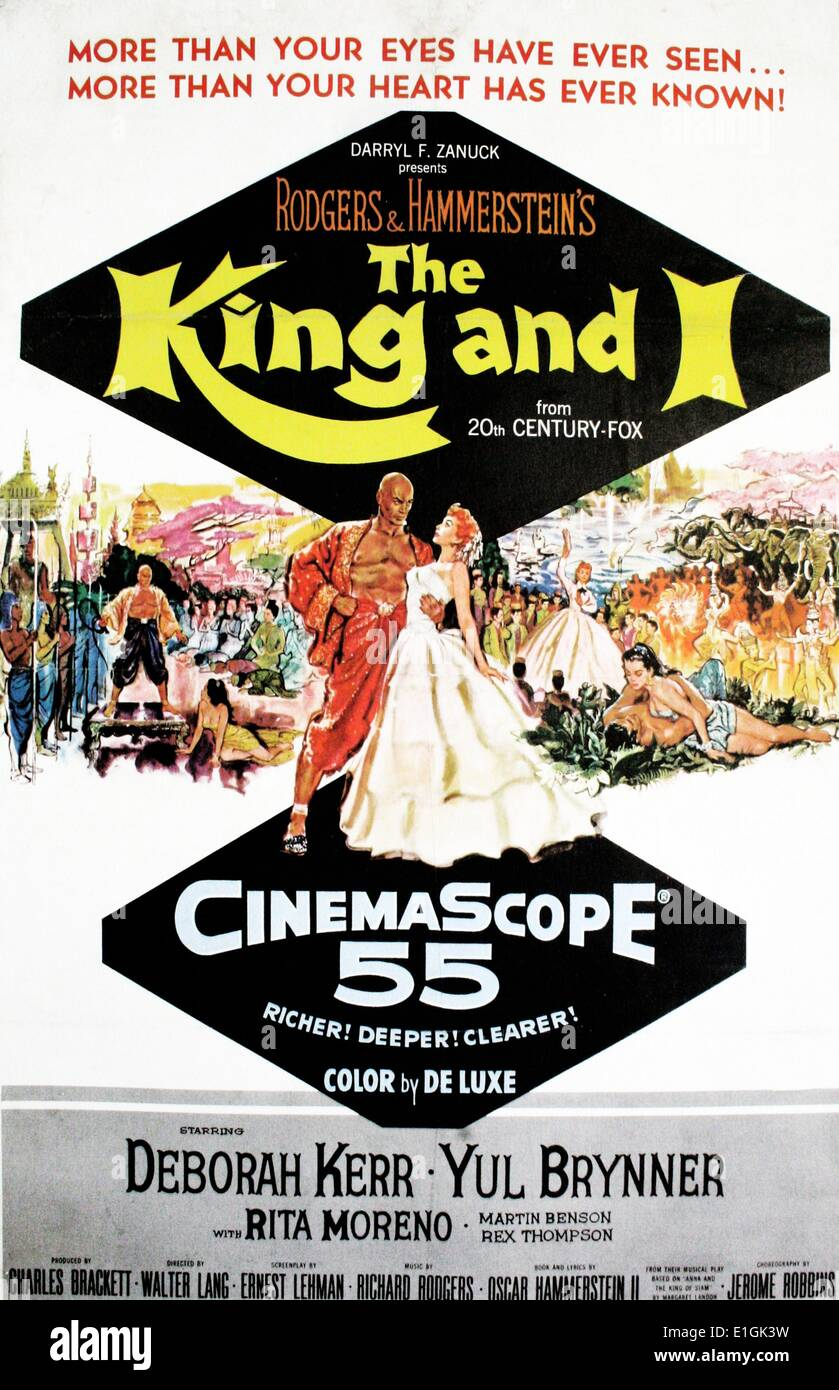 The King and I a musical, starring Deborah Kerr and Yul Brynner - Stock Image
