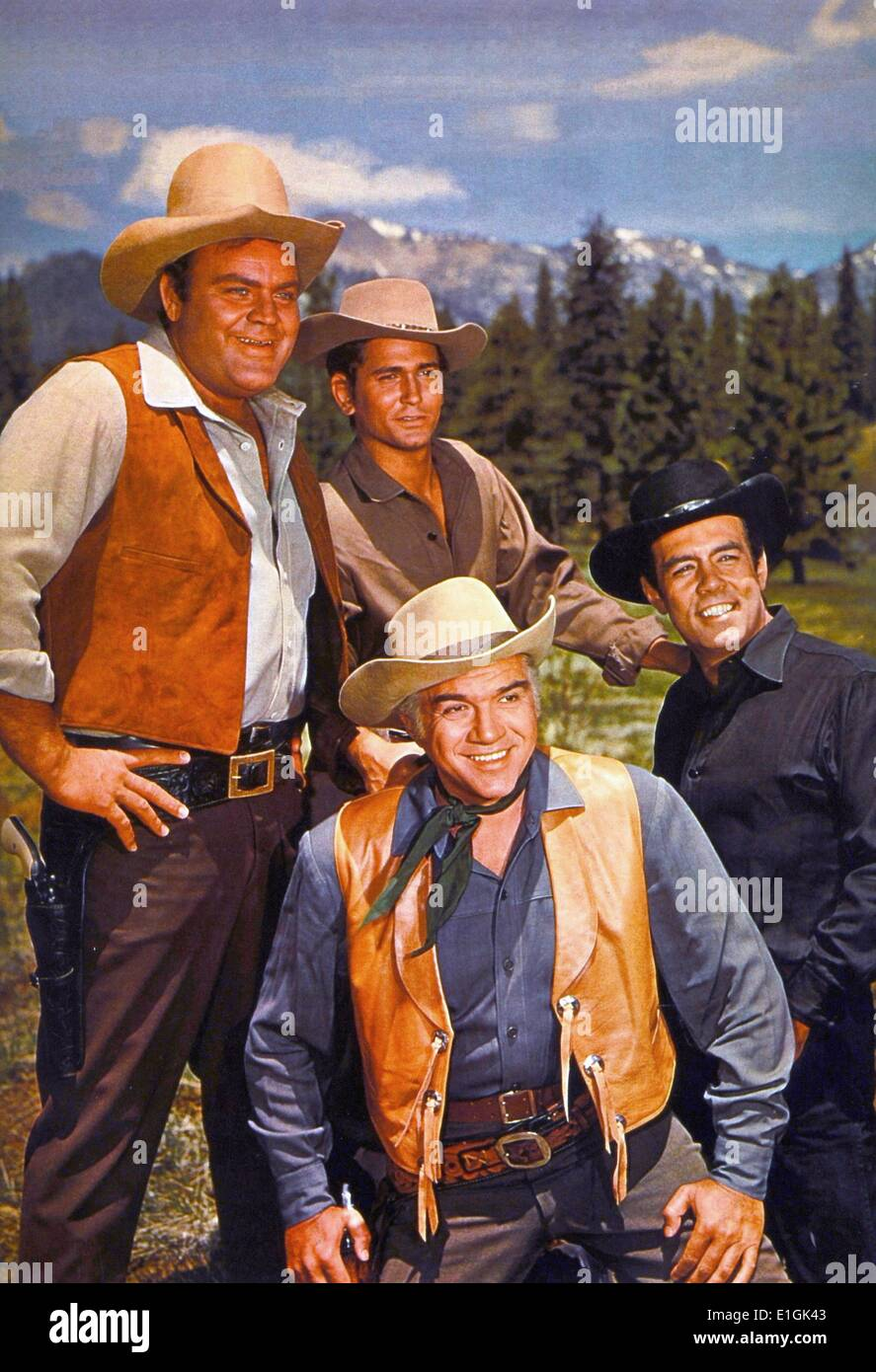 Publicity photo from the American TV series 'Bonanza'. Bonanza is an NBC television western series that ran from Stock Photo