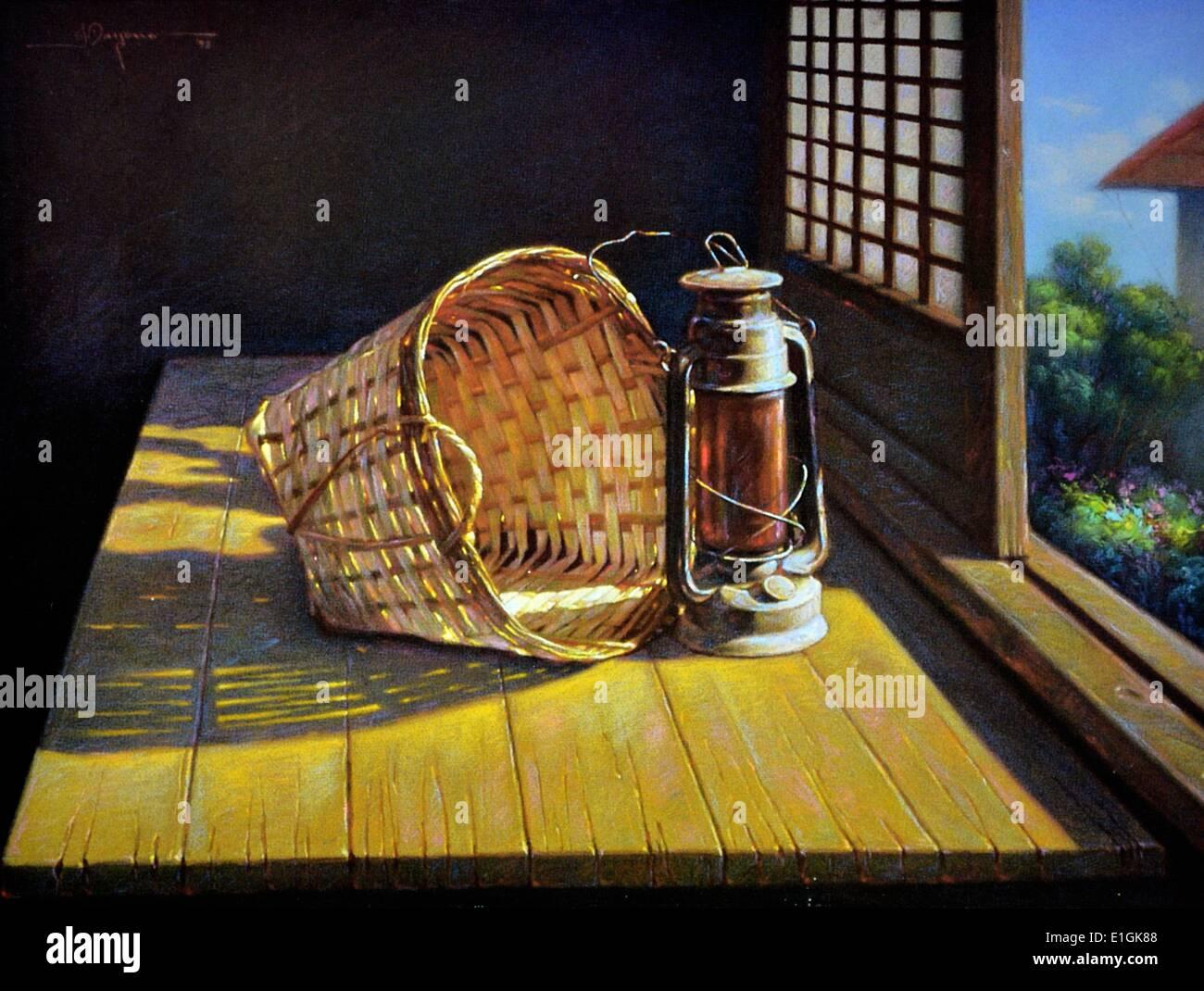 Joselito Dayono, 'Still Life', 1992, pastel on paper - Stock Image