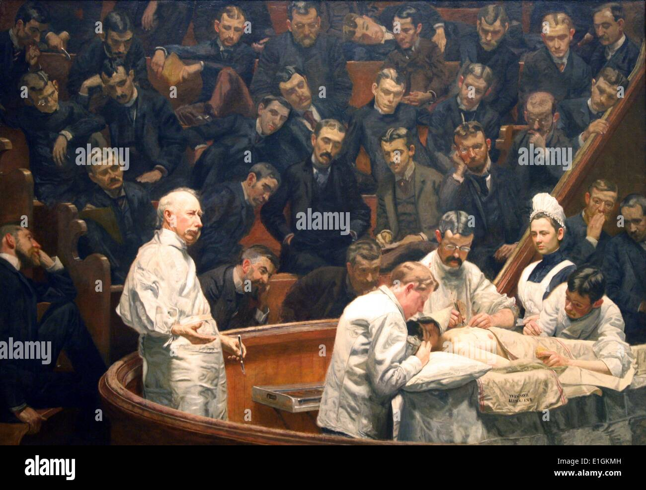 The Agnew Clinic by Thomas Eakins - Stock Image