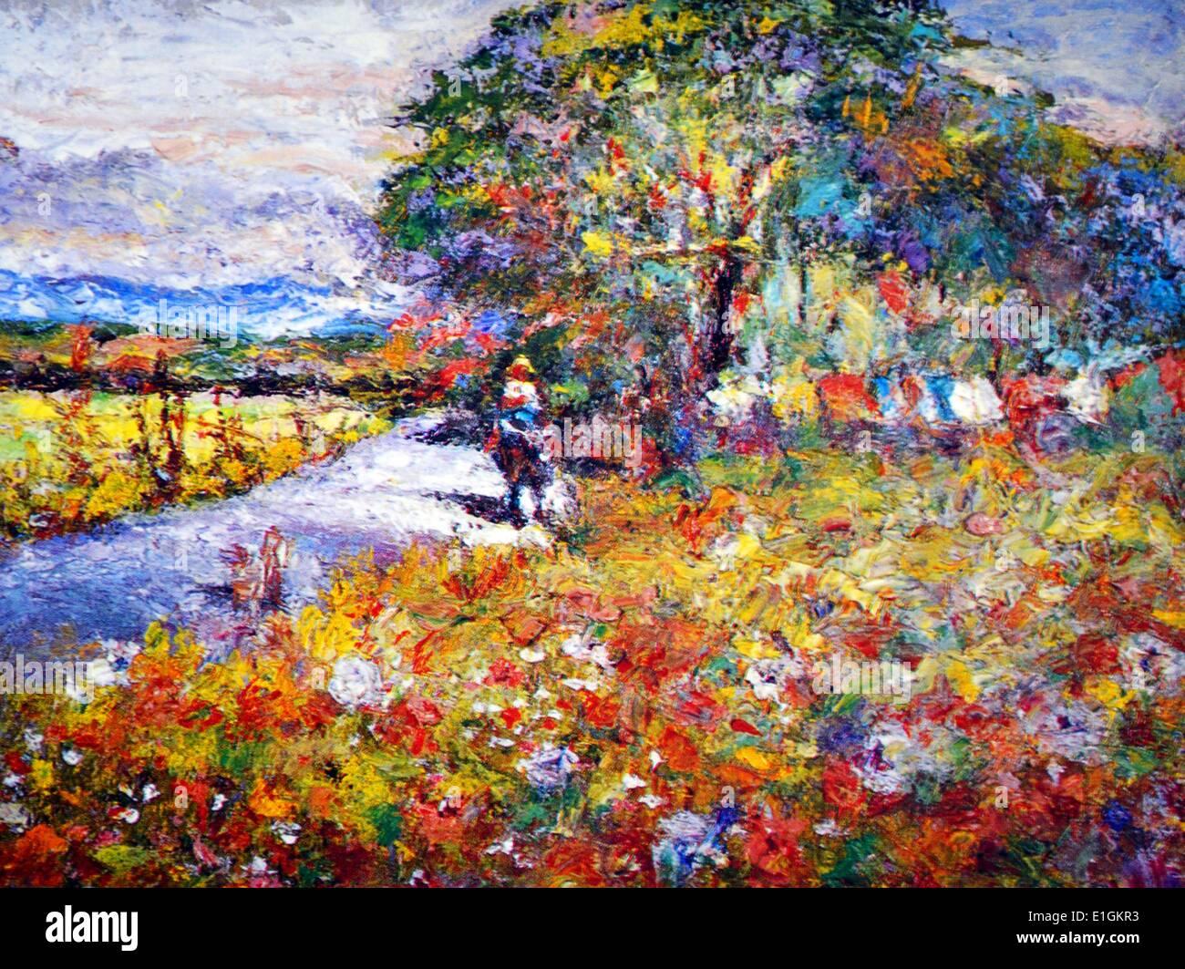 Virgilio Daclan, Homeward Bound, 1992.  Oil on canvas. - Stock Image