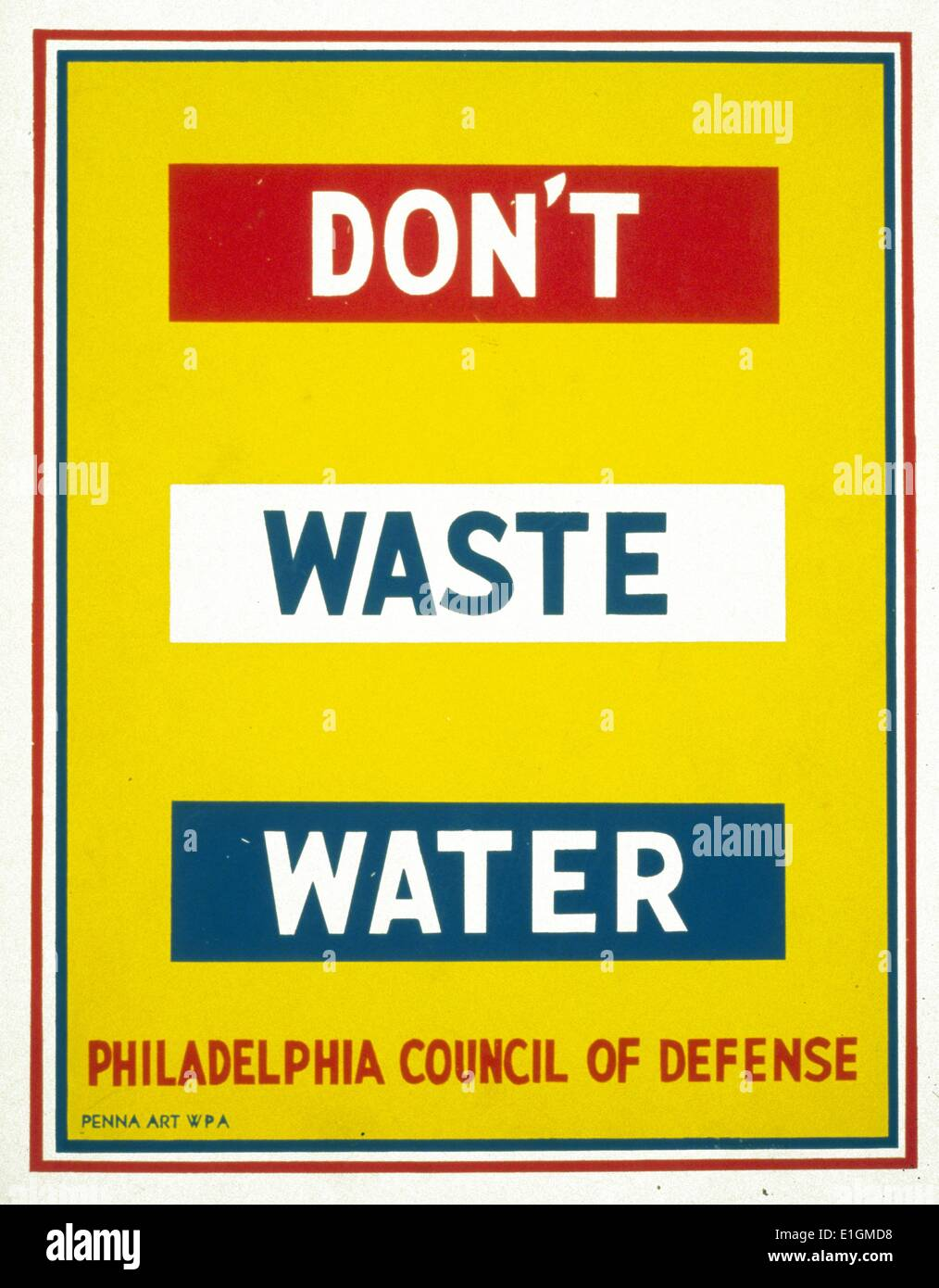 Don't waste water - Stock Image