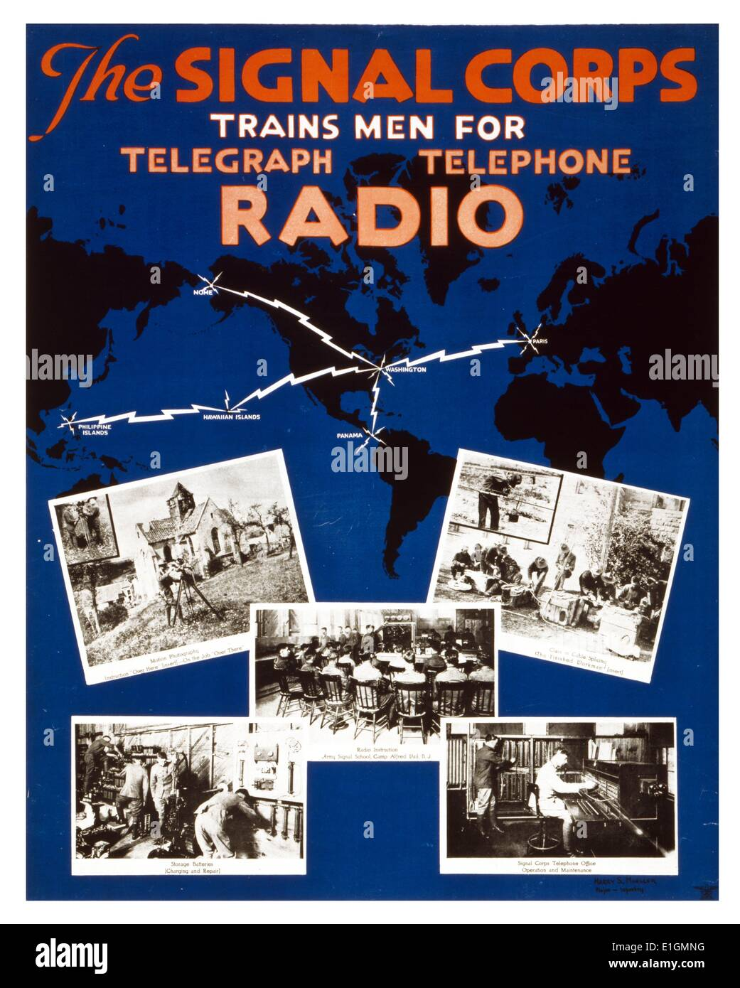 U.S. Army Signal Corps recruiting poster - Stock Image