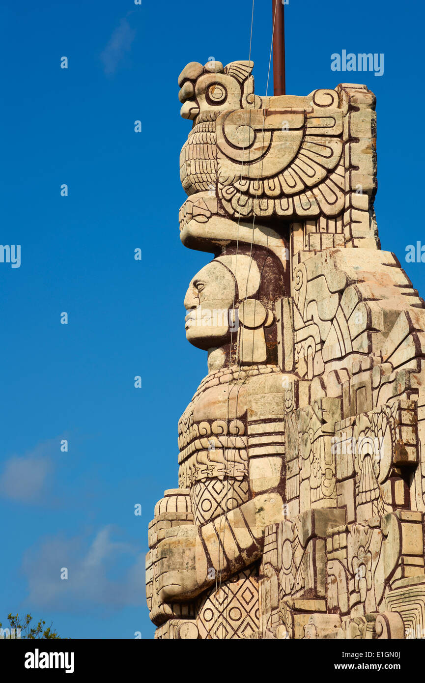 Mexico, Yucatan state, Merida, the capital of Yucatan, Paseo de Montejo, Monumento a la Patria - Stock Image