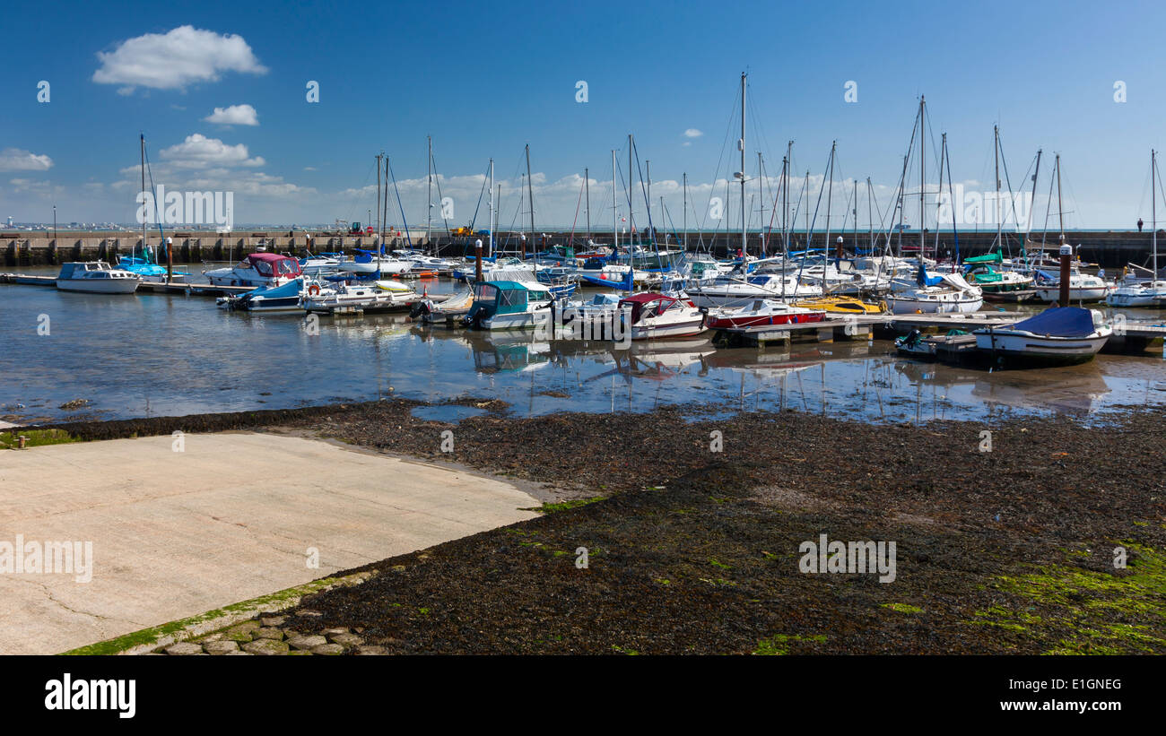 Boats in Ryde Harbour on the Isle Of Wight England UK Europe - Stock Image
