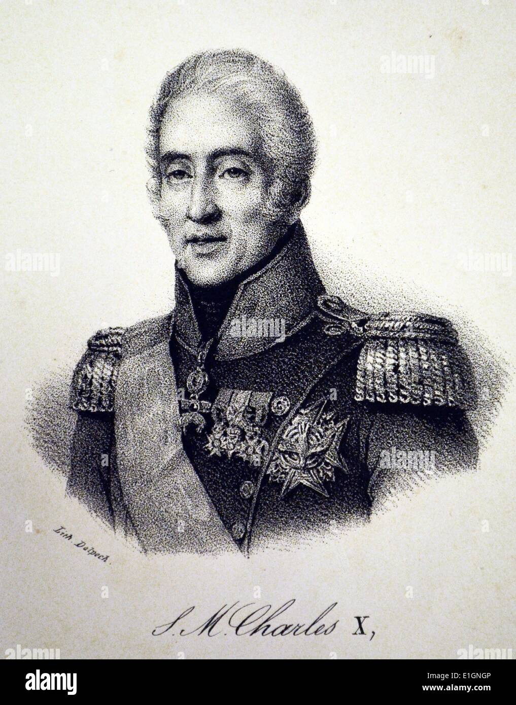 Charles X of France - Stock Image