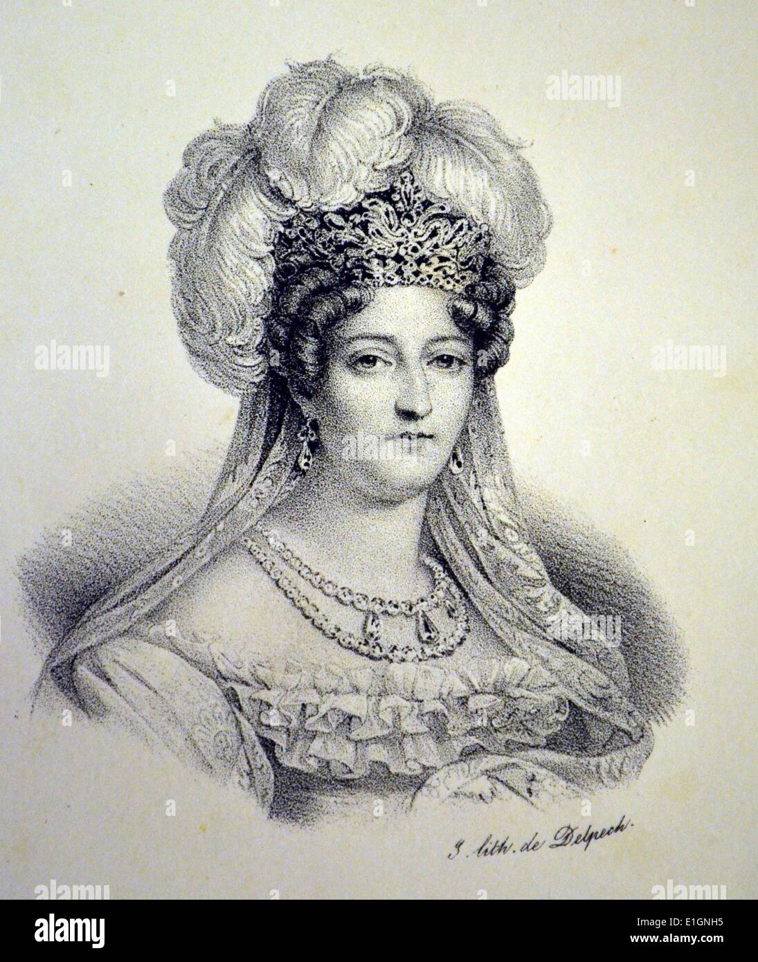 Marie Therese Charlotte, Duchess of Angouleme - Stock Image