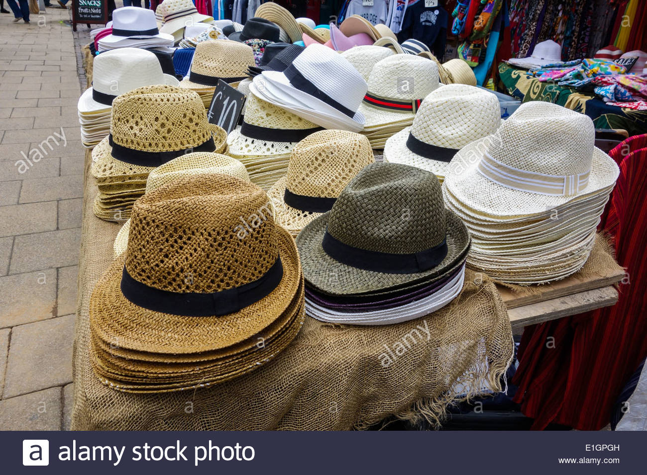 Summer Hat Stall Stock Photos   Summer Hat Stall Stock Images - Alamy 897c500da3f