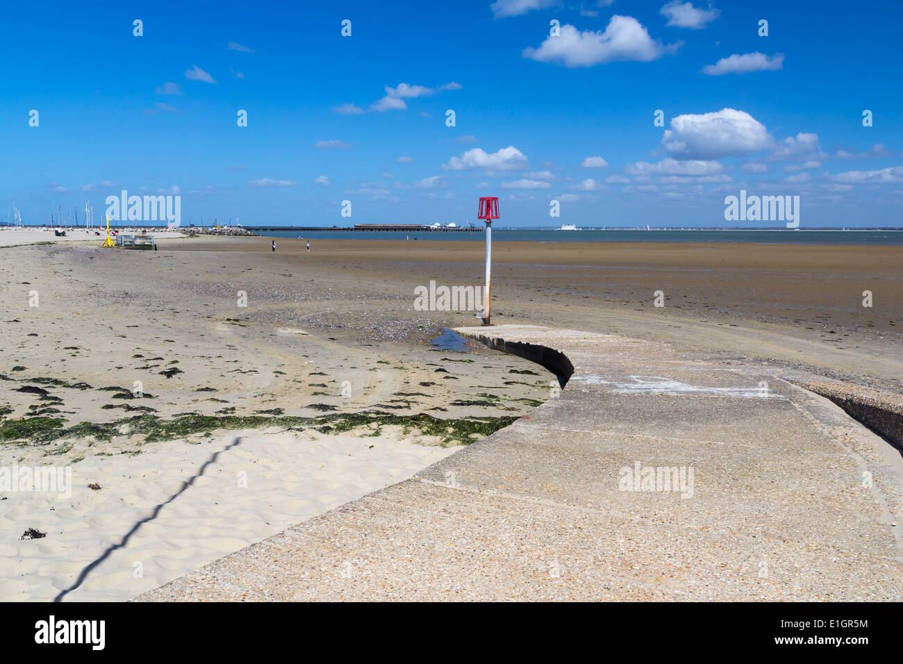 Ryde Beach on the Isle Of Wight England UK Europe - Stock Image