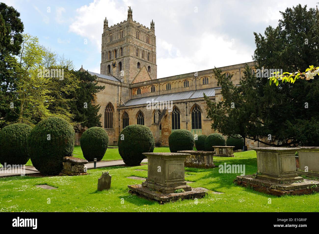 Tewkesbury Abbey, Gloucestershire, England - Stock Image