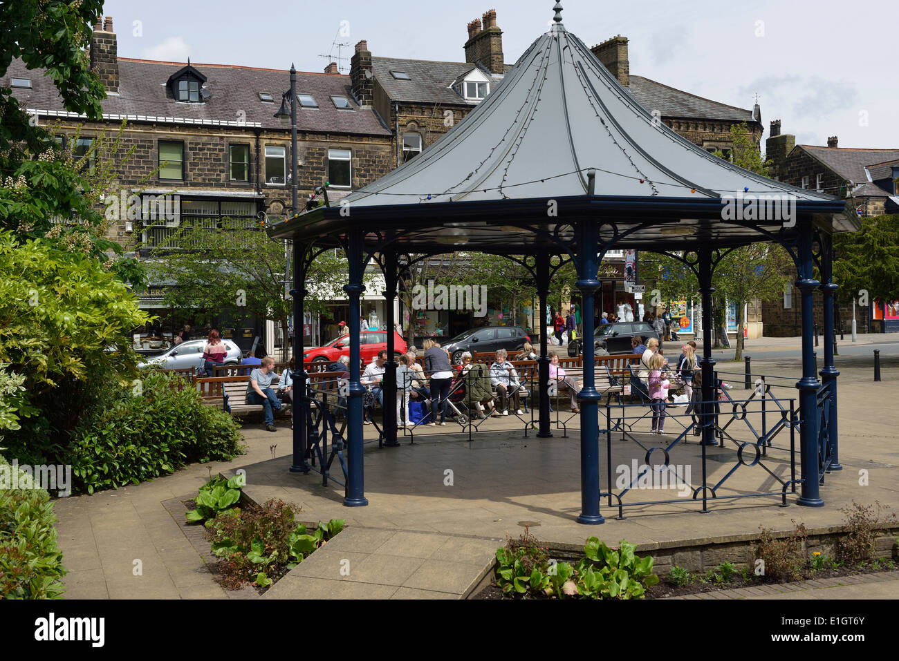 Bandstand at Ilkley, West Yorkshire. UK - Stock Image