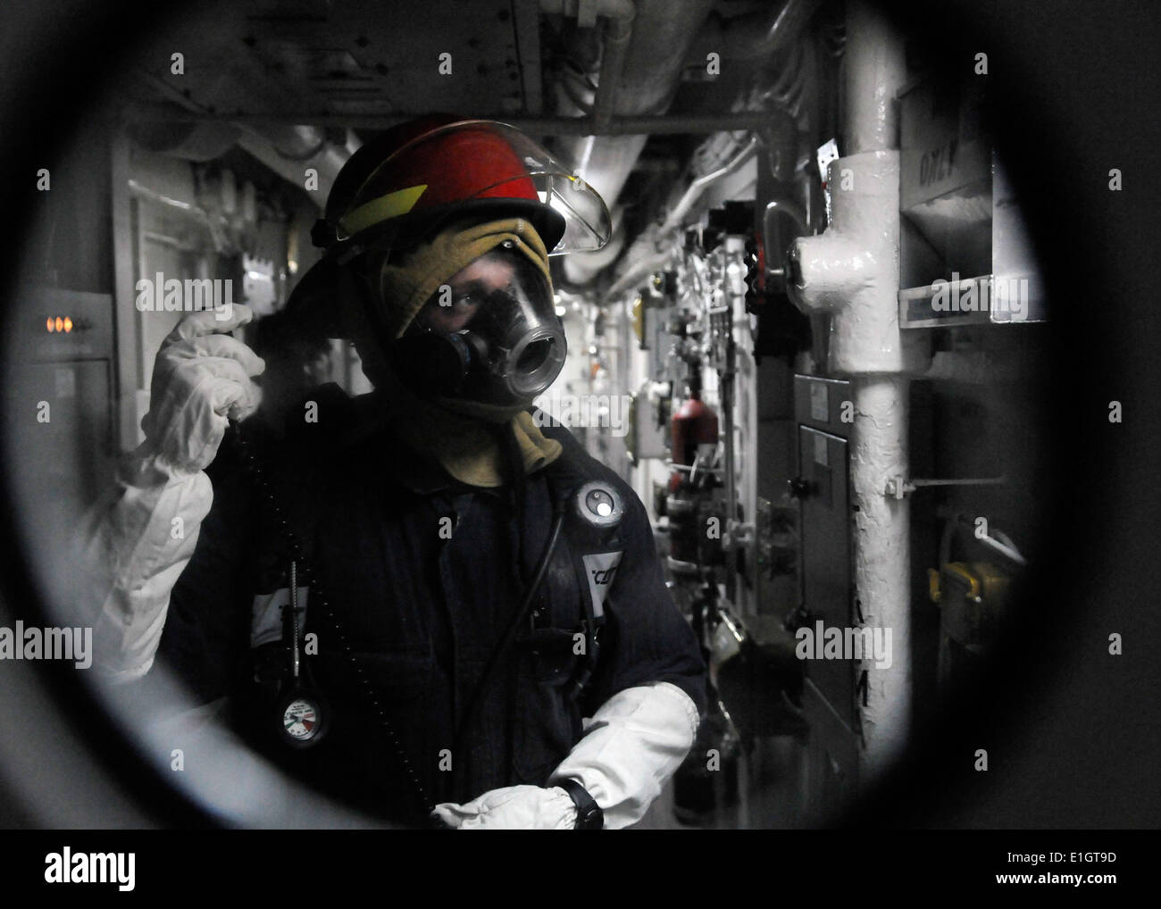 u s navy engineman 3rd class charlie shroba relays a message from