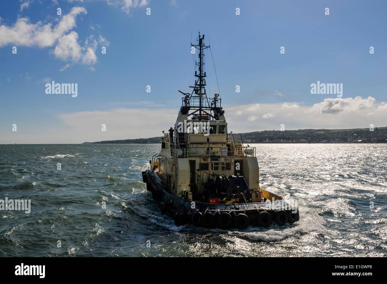 Svitzer Sussex tug boat, Port of Belfast - Stock Image