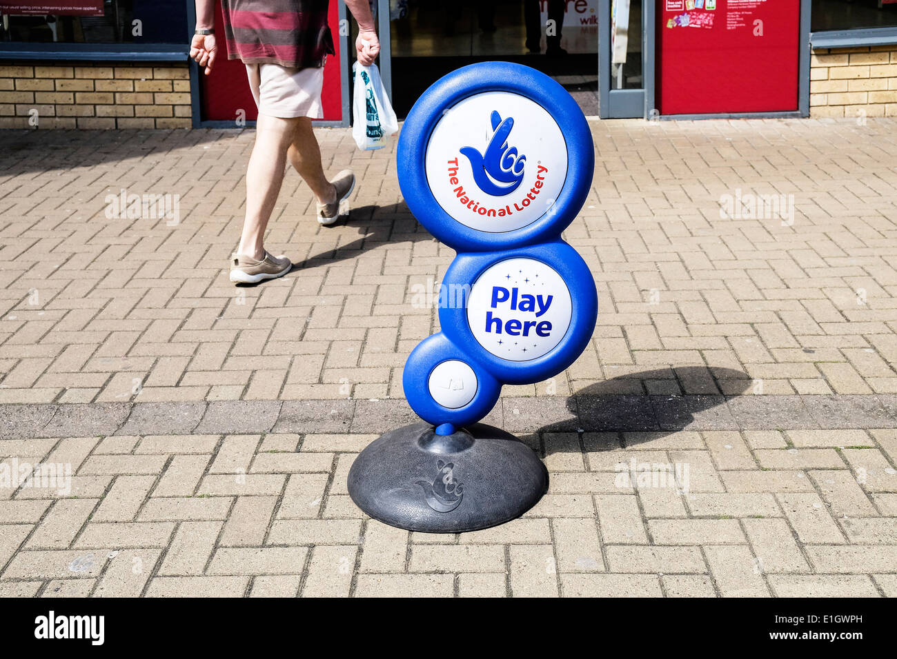 The symbol for the National Lottery. - Stock Image
